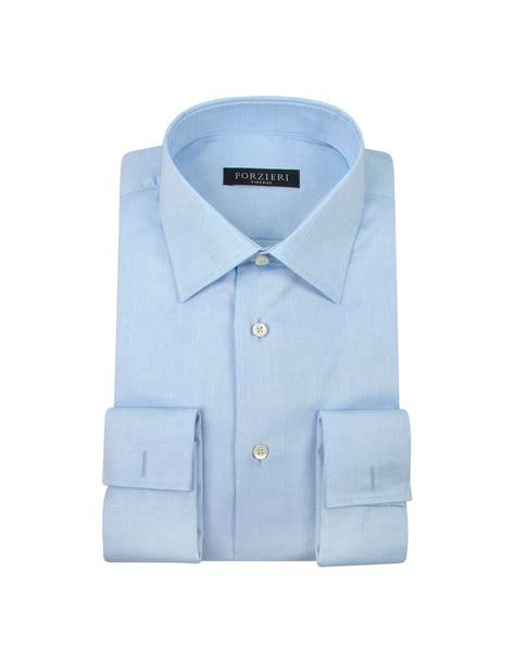 light blue dress shirt lyst forzieri light blue cuff cotton dress shirt