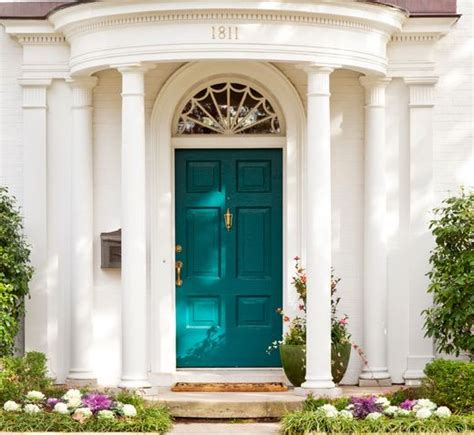 Teal Front Door House Ideas Pinterest Best Paint Color For Front Door