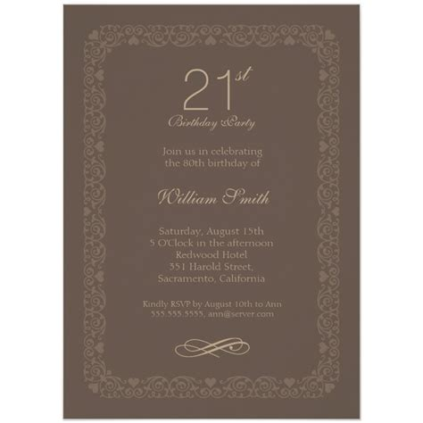 21st birthday invites archives superdazzle custom