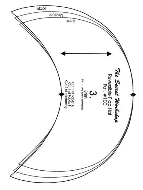 printable pattern for welding caps child s reversible flap hat brim pattern piece 3