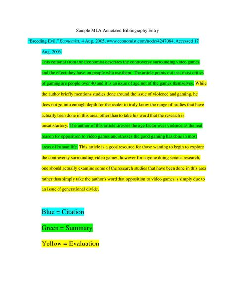 annotated bibliography citation guide central indiana