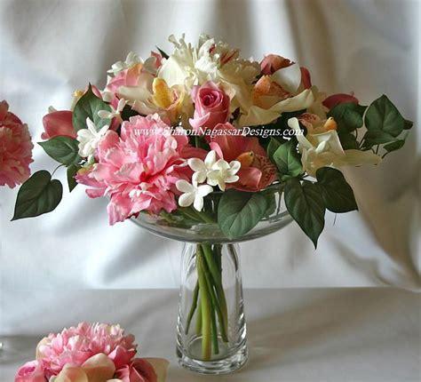 large pedestal flower bowl centerpiece floral