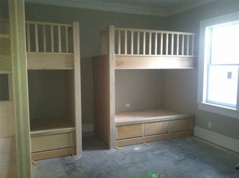 built in bunk beds northern tool houston plans for building built in bunk