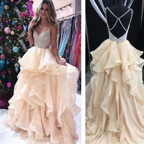 sparkly pretty  popular prom dresses  prom dress