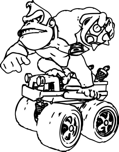 racing donkey kong coloring pages coloringsuite com