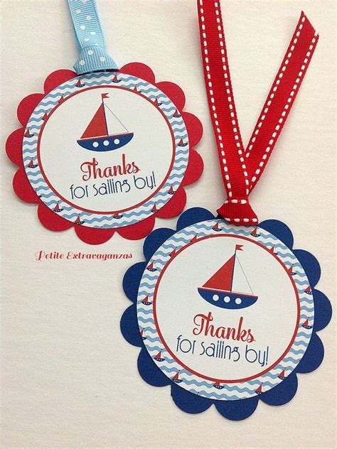 Nautical Baby Shower Favor Tags by 1000 Ideas About Nautical Favors On Shower