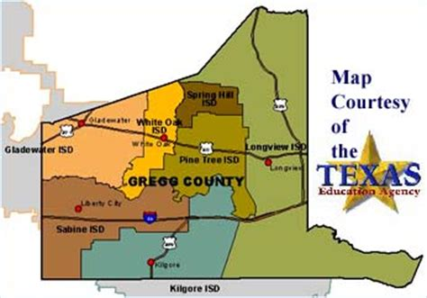 map of gregg county texas gregg county texas school districts