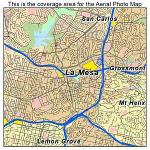 aerial photography map of la mesa ca california