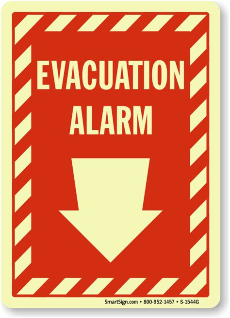 Alarm Emergency evacuation alarm signs