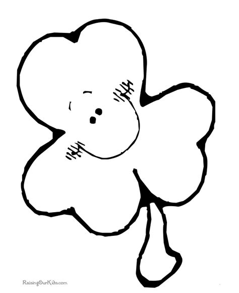 shamrock coloring page 002