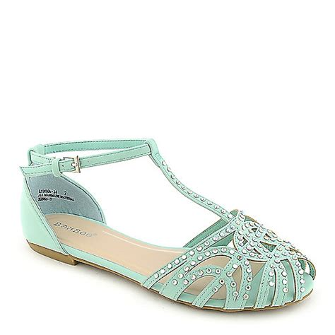 mint colored sandals bamboo lynna 01 mint flat jeweled sandal