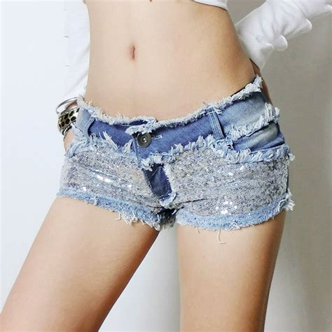 Celana Pendek Ripped Cutoff Blue buy wholesale blue sequin shorts from china blue