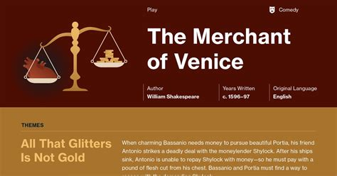 Themes In Merchant Of Venice by The Merchant Of Venice Plot Summary Course