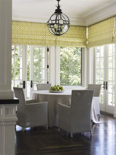 White Roman Blinds Design Ideas Dining Room Blinds