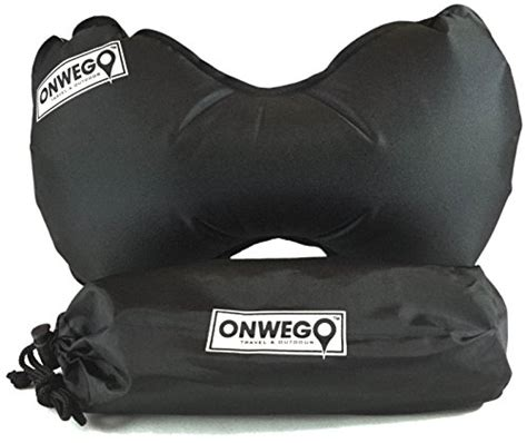 Bantal Travel Inflateable Back Support onwego travel pillow for neck and lumbar support with adjustable compact