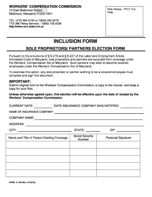 Maryland Workers Compensation Search 2015 2017 Form Md C 15r Fill Printable Fillable Blank Pdffiller