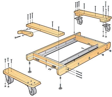 Table Saw Mobile Base by 11 Best Table Saw Base Images On Table Saw