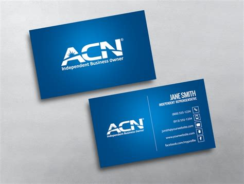 watermark business card template acn business cards professional blue acn business card