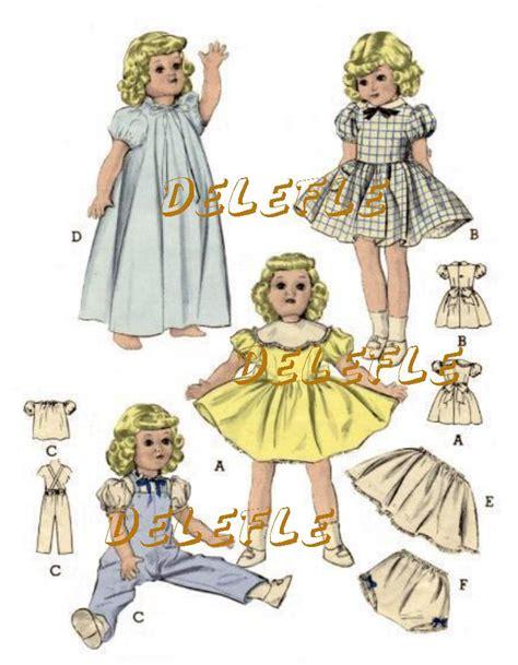 pattern doll clothes 10 inch 6350 vintage doll clothes pattern wardrobe 16 inch ebay