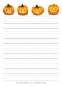 Halloween Printable Writing Paper Halloween Writing Paper Jack O Lanterns