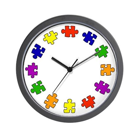 autism colors colors of autism wall clock by fabuulous gear