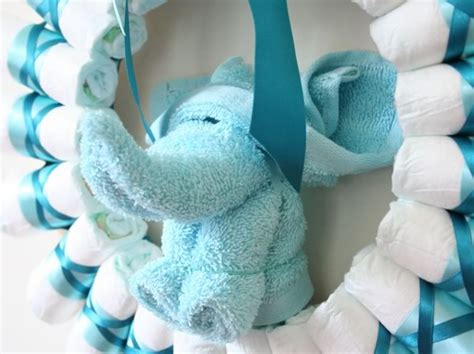 Washcloth Origami - wreath rolled diapers for chic style