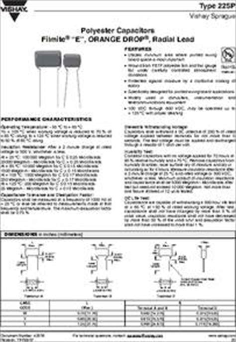 polyester capacitor data sheet 225p27391wd3 datasheet specifications capacitor dielectric type polyester