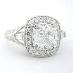 Antique Cushion Cut Engagement Ring Cushion Cut Engagement Ring Antique 2 06ctw 18k