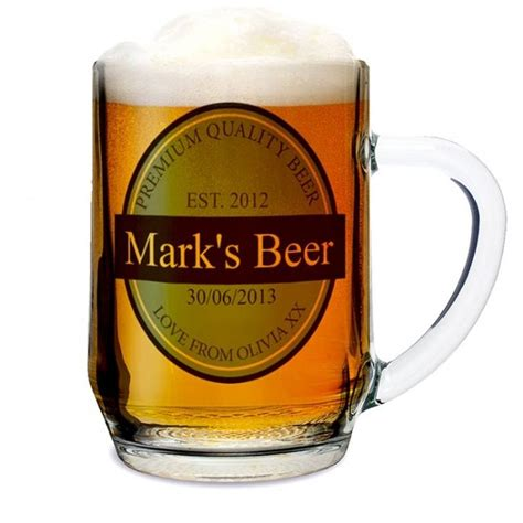 Bathroom Offers Uk by Personalised Beer Glass Tankard Find Me A Gift