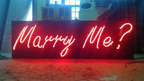 will you me signs in lights custom indoor neon signs