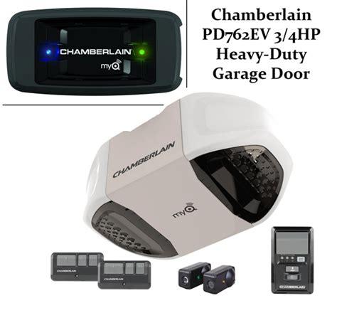 Chamberlain Garage Door Opener Reviews Chamberlain Pd762ev 3 4hp Heavy Duty Garage Door Opener Review