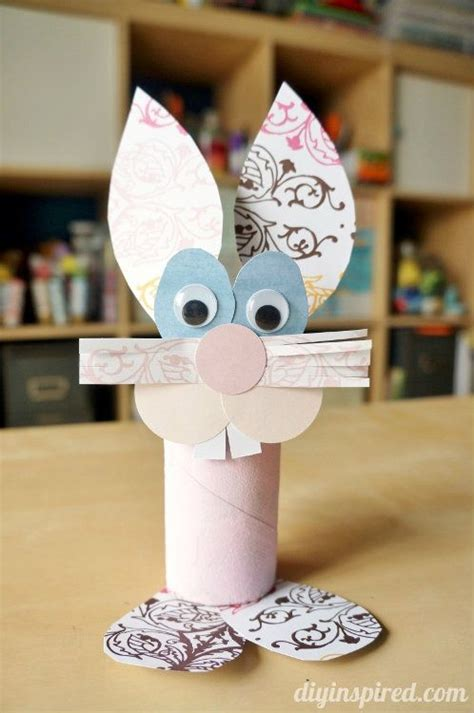 Easter Craft Ideas With Toilet Paper Rolls - toilet paper roll bunny craft bunny crafts toilet paper