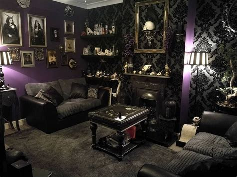dark home decor 45 gothic living room design ideas for your hallowen day