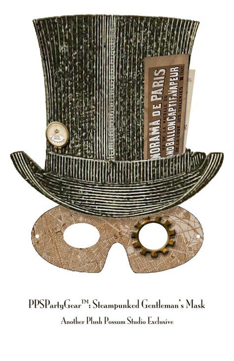 printable possum mask plush possum studio steunk party mask for gents