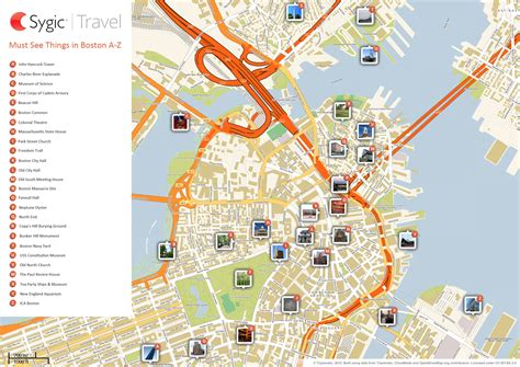 usa map tourist attractions map of boston attractions tripomatic