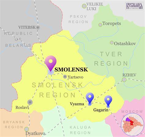 russia map smolensk smolensk region