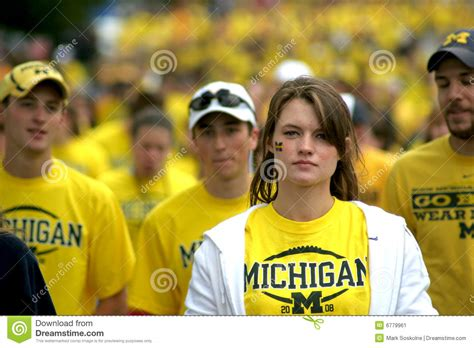 michigan football fans editorial photo image of undergrad