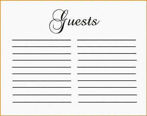 free printable guest book template guest book templates pertamini co