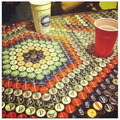 how to make a bottle cap bar top bottle cap bar top diy pinterest