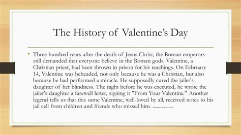 the origin of s day valentines day by steve matheny ppt