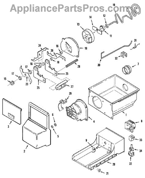 whirlpool refrigerator maker parts diagram whirlpool wp61005253 solenoid appliancepartspros