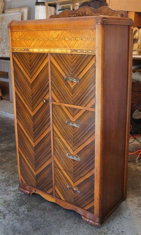 art deco bedroom furniture waterfall dresser chest vintage antique waterfall art deco tallboy dresser chest cedar