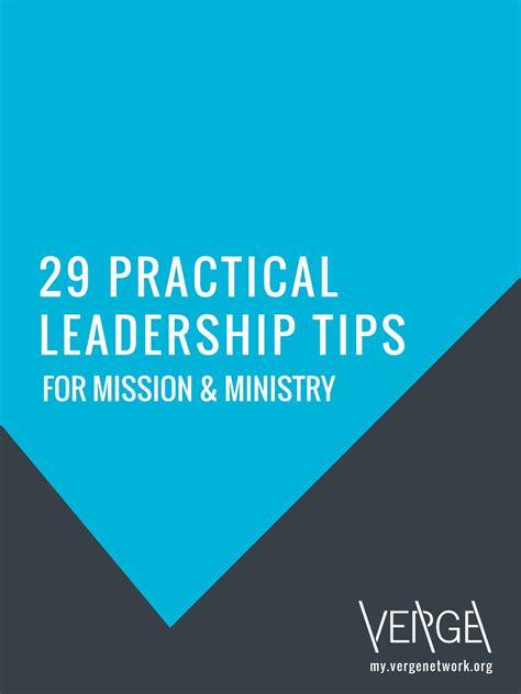 On Mission And Leadership ebook 29 practical leadership tips my verge