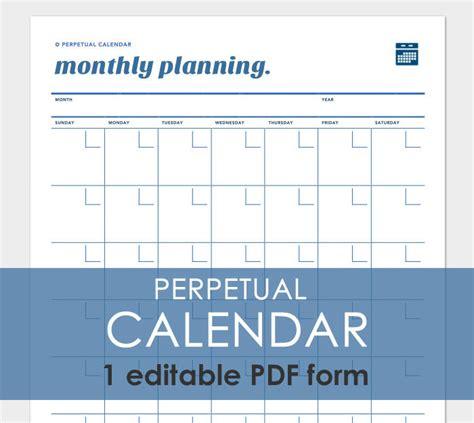 perpetual calendar template any year perpetual calendar