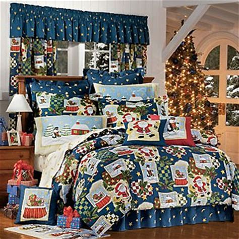 king size christmas bedding christmas santa snowman holiday comforter bed set
