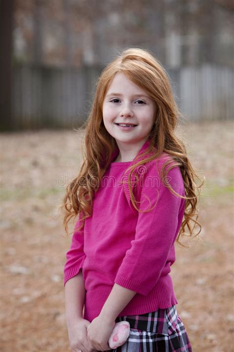 7 year old girl stock photo seven year old red haired girl stock photo image of face
