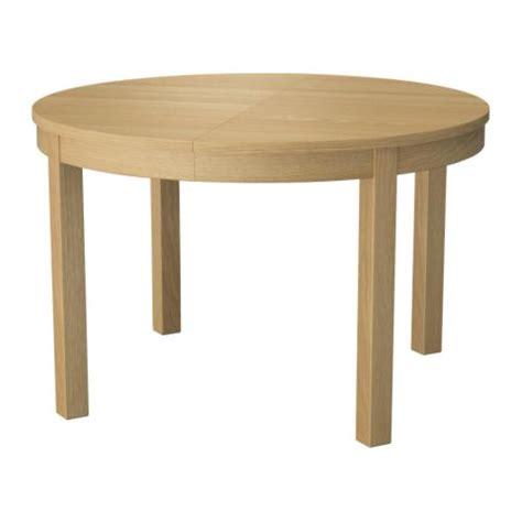 bjursta extendable table oak veneer 115 166 cm ikea