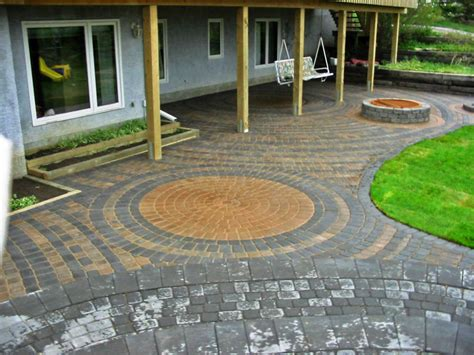 Brick Patio With Pit by Gonna Be Patio W Pit Ideas On