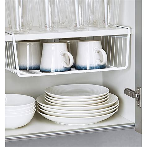 kitchen cabinet storage containers shelf baskets undershelf baskets the container store
