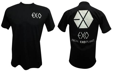 Kaos Black Exo ready stock exo 7andshop
